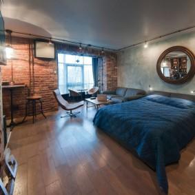 Спальная комната в индустриальном стиле