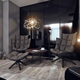 Офисные кресла в интерьере квартиры