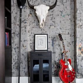 Стильный декор в комнате мужчины