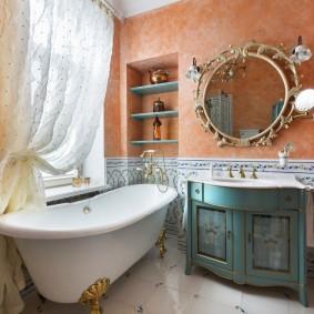 Декор ванной комнаты в деревенском стиле
