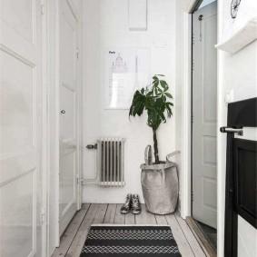 Дизайн узкого коридора в скандинавском стиле