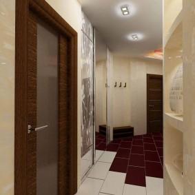 Зонирование коридора керамической плиткой