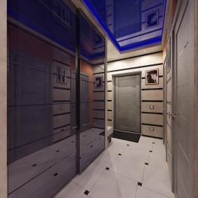 Интерьер коридора в темных тонах
