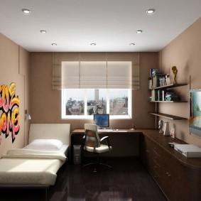 Подвесной потолок в маленькой детской комнате