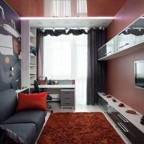 Комната подростка с натяжным потолком