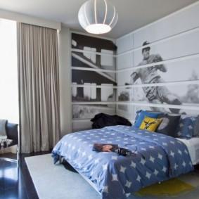Декор фотообоями подростковой комнаты