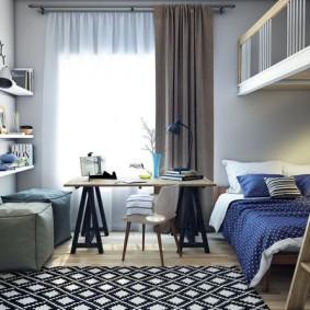 Подростковая спальня для мальчика школьника