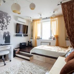 Детская комната с подиумом в интерьере