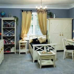Красивая спальня в прованском стиле