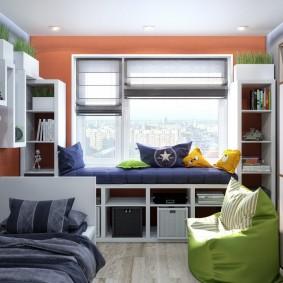 Современная комната в молодежном стиле