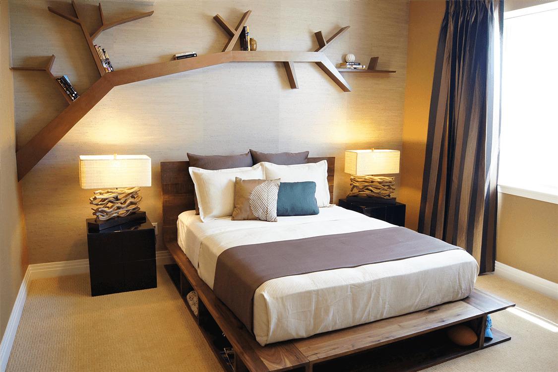 фото кровать которую можно поставить поперек стены авторская кухня