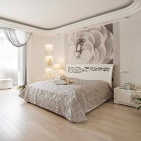 Красивая спальня в нежных оттенках