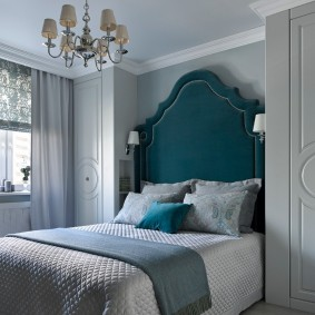 Встроенная мебель с серыми фасадами