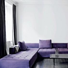 Лаконичная модель углового дивана