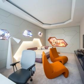 Дизайн детской комнаты в стиле хай-тек