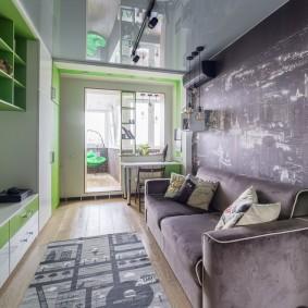 Узкая комната для ребенка подростка