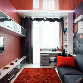 Небольшая спальня для подростка после ремонта