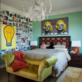 Детская спальня в стиле поп-арт