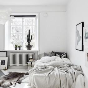 Светлая спальня в скандинавском стиле
