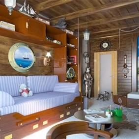 Комната в морском стиле в частном доме