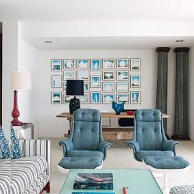 Удобные стулья в гостевой комнате