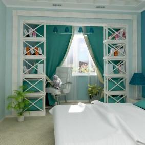 Дизайн небольшой спальни в духе Средиземноморья