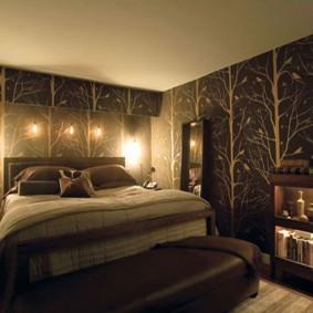Прикроватные светильники в небольшой спальне