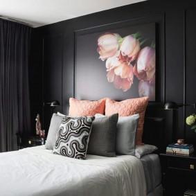 Стильный декор в маленькой спальне