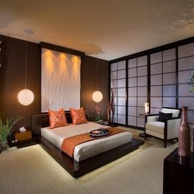 Японский стиль в оформлении спальни