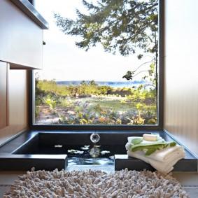 Бассейн на открытом воздухе в частном доме