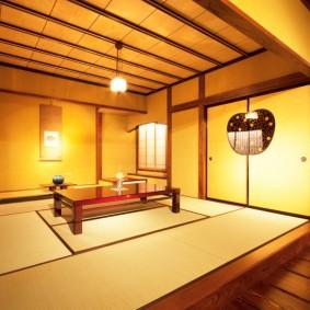 Интерьер комнаты в стиле японского минимализма