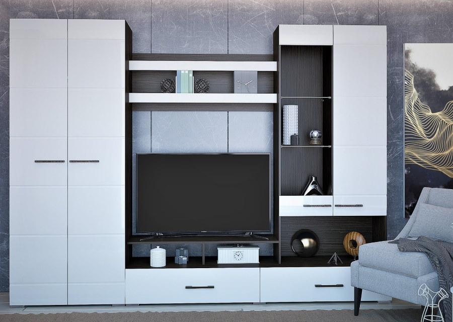 Горка со шкафом для зала в современном стиле