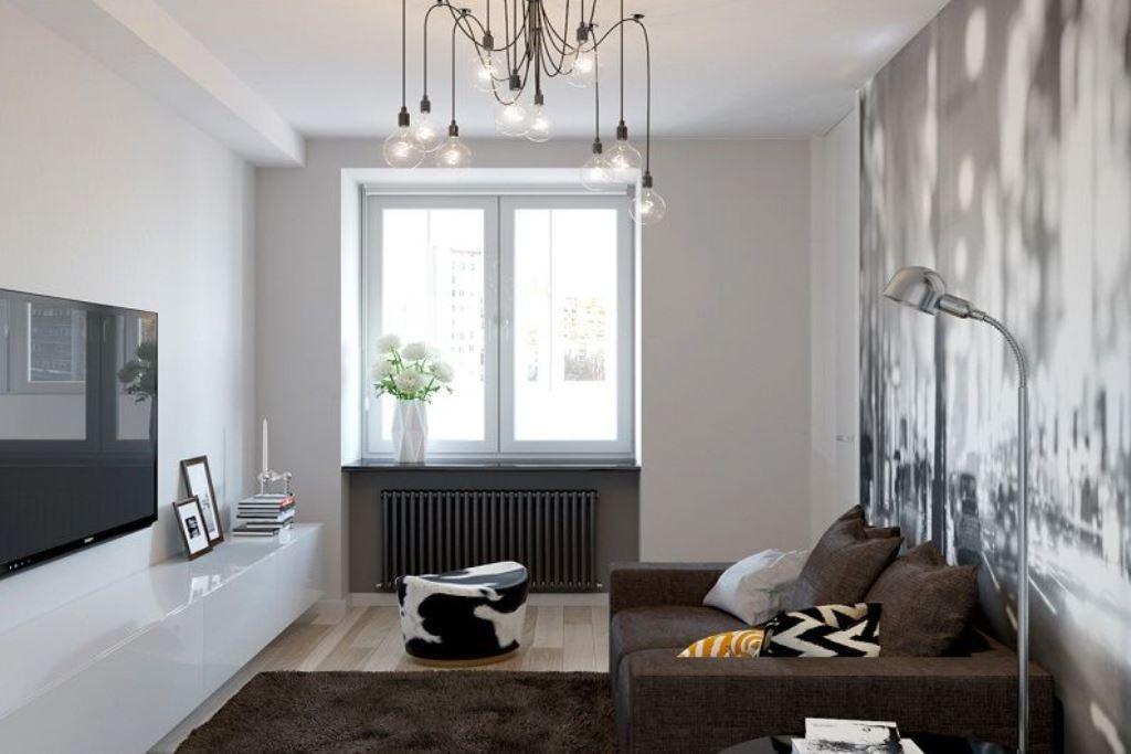 гостиная 16 кв м минимализм