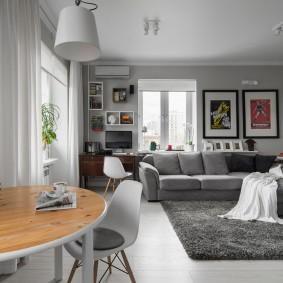 гостиная 18 кв м дизайн фото