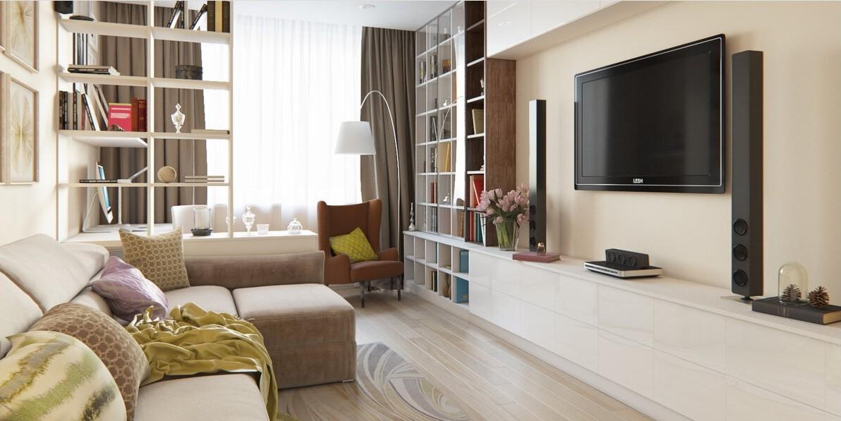 гостиная 18 кв м интерьер фото
