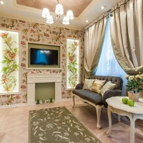 гостиная 4 на 4 метра интерьер фото