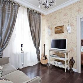 гостиная 4 на 4 метра фото интерьер