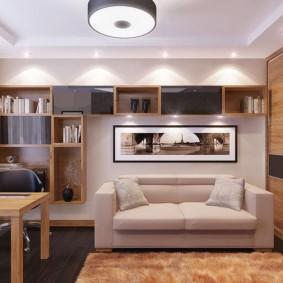 гостиная 4 на 4 метра фото дизайн