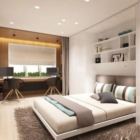 гостиная и спальня в одной комнате идеи интерьер