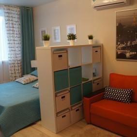 гостиная и спальня в одной комнате оформление