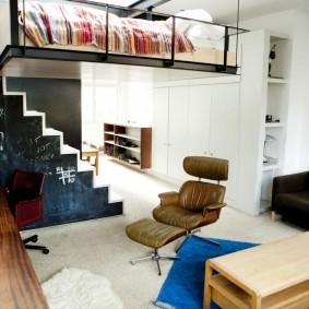 гостиная и спальня в одной комнате оформление идеи