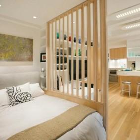 гостиная и спальня в одной комнате идеи вариантов
