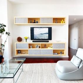 гостиная комната 18 кв м фото интерьер