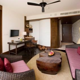 гостиная комната 18 кв м фото