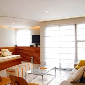 гостиная комната 18 кв м фото вариантов