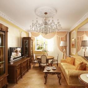 гостиная комната 18 кв м фото дизайна