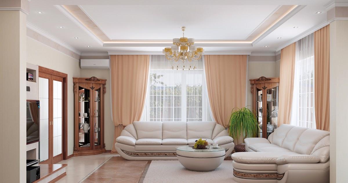 гостиная с двумя окнами оформление