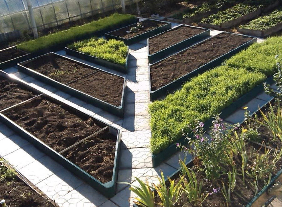 Красивый огород с металлическими грядками