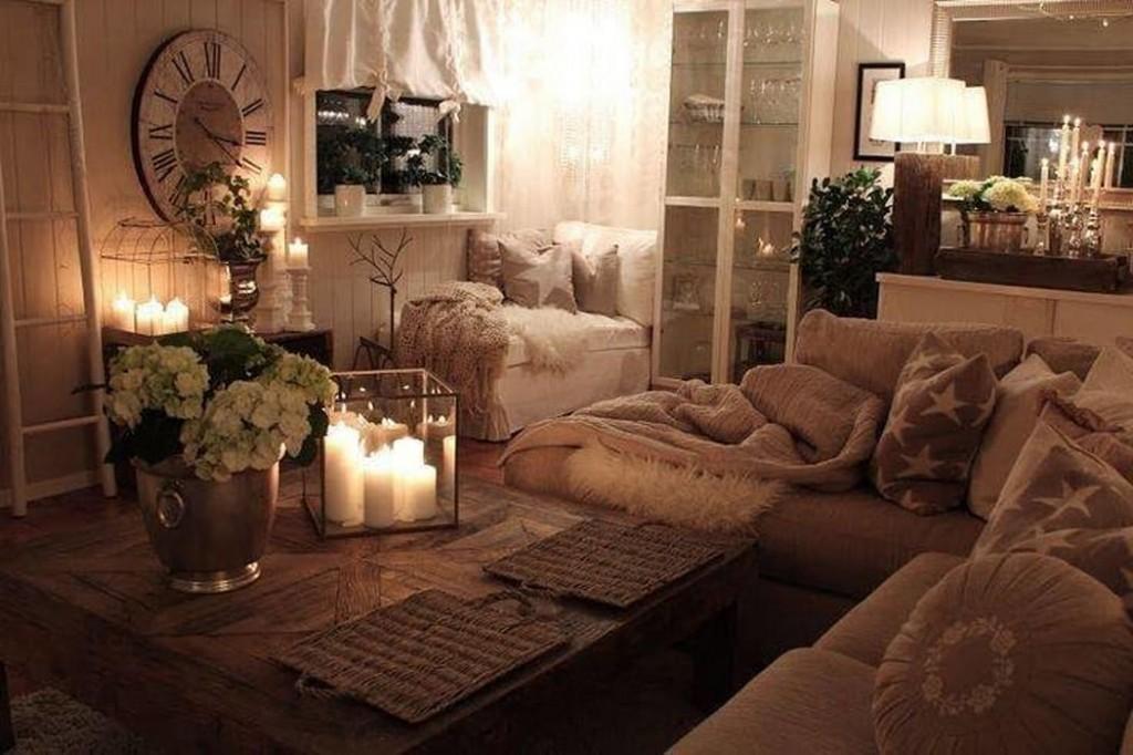 Уютная спальня-гостиная в стиле хюгге