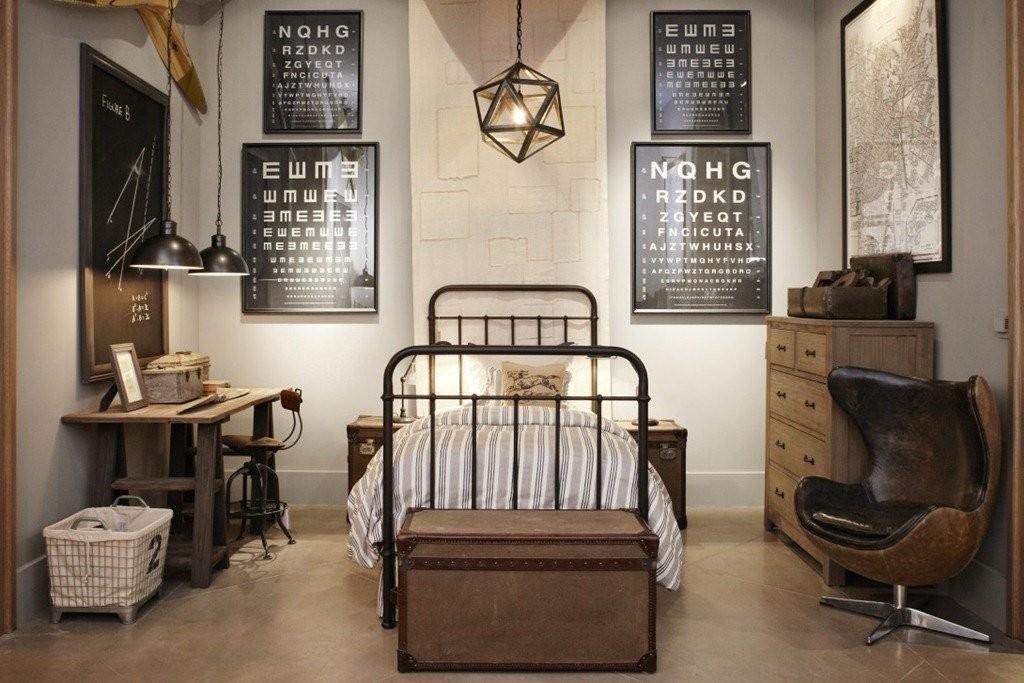 Меблировка подростковой комнаты в индустриальном стиле